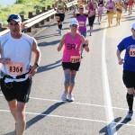 Utah Valley Marathoners running mountain pass