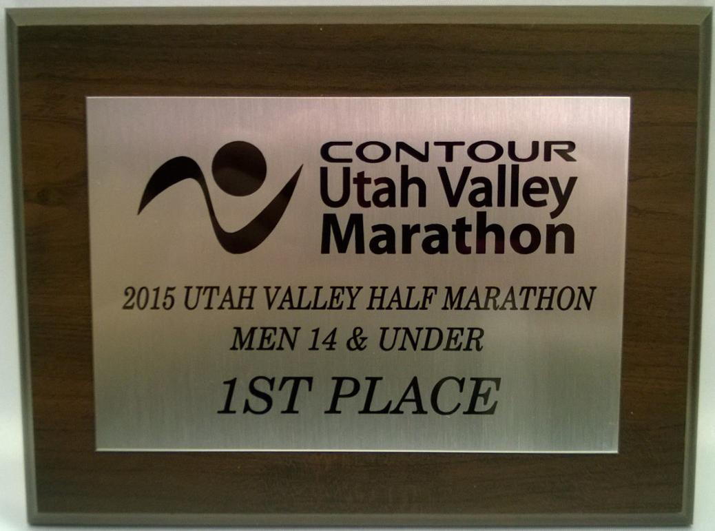 Preferred Utah Valley Half Marathon Awards  Utah Valley Marathon BR15